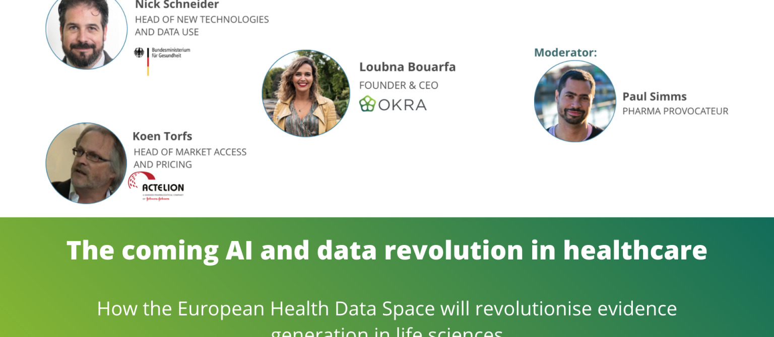 WEBINAR PART 2: The coming AI and data revolution in healthcare - Pharma and Tech perspectives